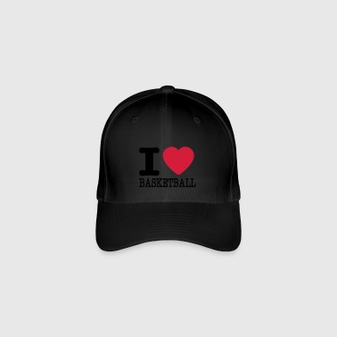 I love basketball / I love basketball - Flexfit Baseball Cap