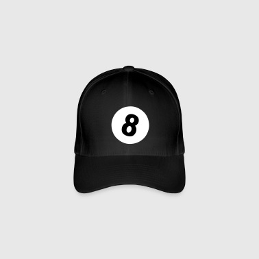 8 ball - pool design - Casquette Flexfit