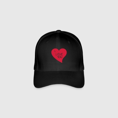 Heart With I Love You. - Flexfit Baseball Cap