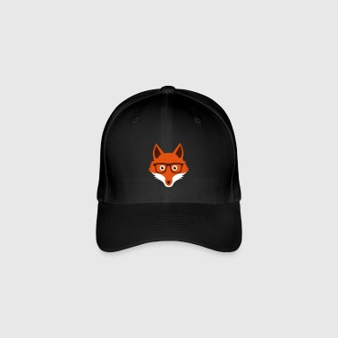 Sweet Funny hipster fox with nerd glasses - Cappello con visiera Flexfit