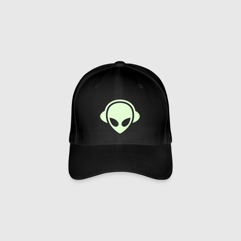 Alien headphones Glow in the dark - Flexfit Baseball Cap
