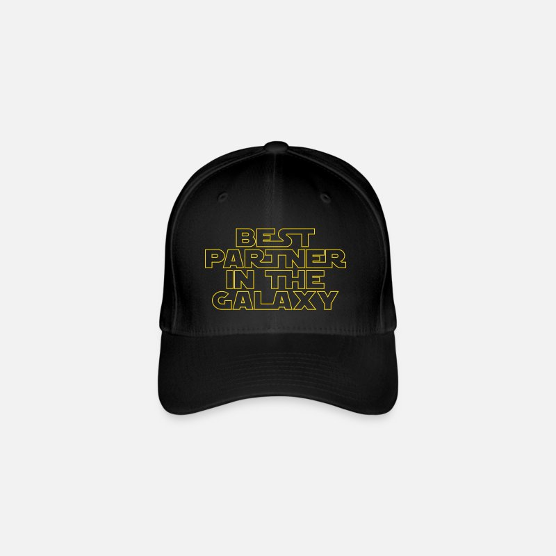 Gift Idea Caps & Hats - Best Partner in the Galaxy - Flexfit Baseball Cap black