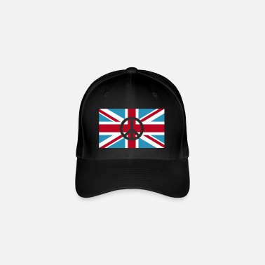 Union Jack Peace Sign Union Jack, Union Jack - Gorra de béisbol Flexfit