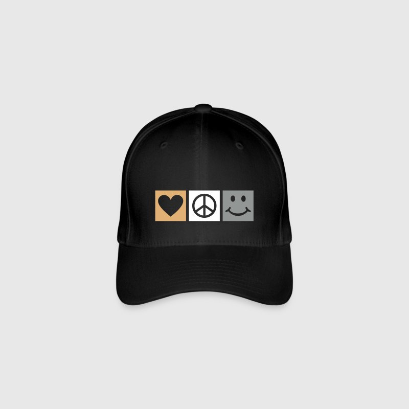 Love Peace Happiness * Smiley Smilie icona cuore - Cappello con visiera Flexfit