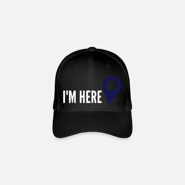 Geocaching I'm HERE, Location, My Location, I'm here - Flexfit Baseball Cap