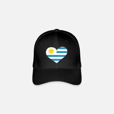 e49e652b3213e Uruguay Herz  Heart Uruguay - Gorra de béisbol flexfit