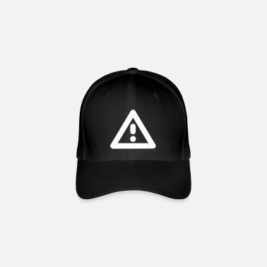 Mark Exclamation mark traffic sign road sign - Flexfit Baseball Cap
