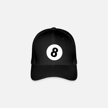 8-ball 8 ball - pool design - Casquette Flexfit