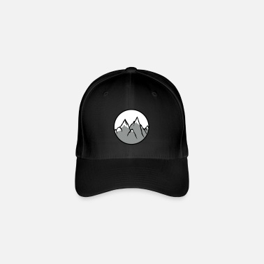 Sportscar circle around climber climbing mountains high sport h - Flexfit Baseball Cap