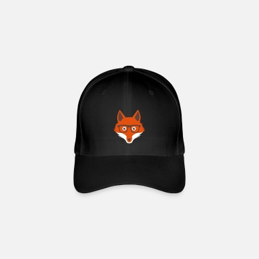 Sweet Funny hipster fox with nerd glasses - Flexfit Baseball Cap