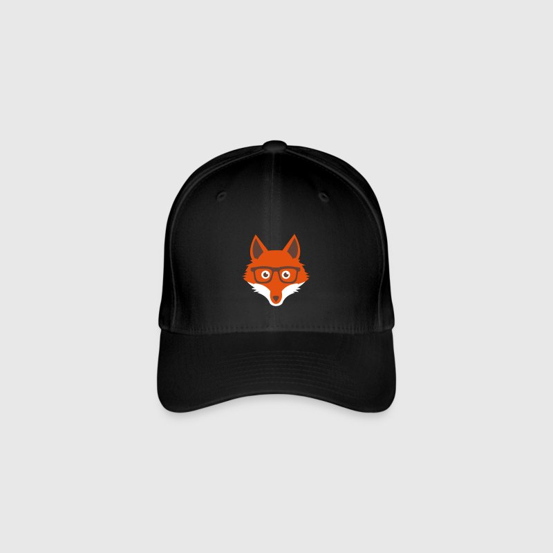 Sweet Funny hipster fox with nerd glasses - Casquette Flexfit
