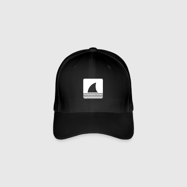 Shark shark fin shark fin waves sea - Flexfit Baseball Cap