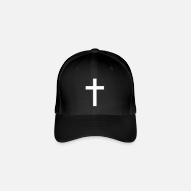 Crucifix crucifix clipart black and white cross - Flexfit Baseball Cap