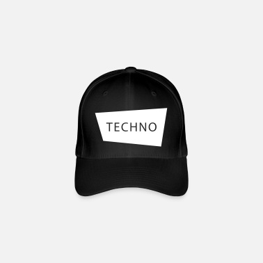 Techno Techno electronics music Goa shirt and gift - Flexfit Baseball Cap