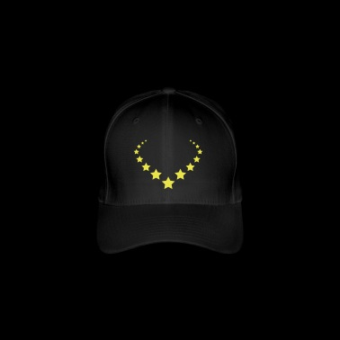 Star Star Tail Circle Necklace Star 1c - Flexfit Baseball Cap