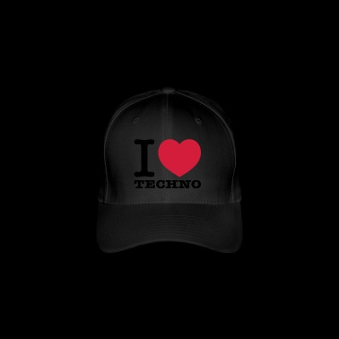 I love techno music - Flexfit Baseball Cap