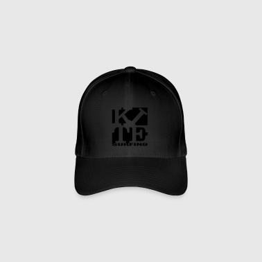 kite homage to robert Indiana surfing black out - Flexfit Baseball Cap