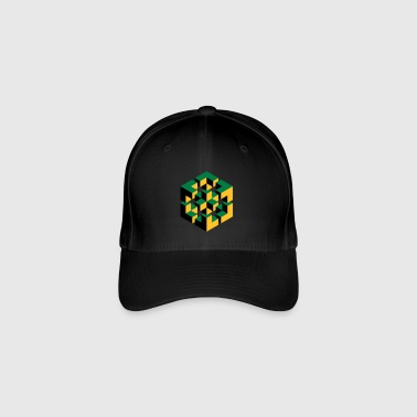 impossible figure Escher cube geometry fantasy - Flexfit Baseball Cap