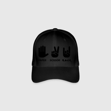 Paper scissors rock c - Flexfit Baseball Cap