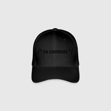 No comment - lowercase - Flexfit Baseball Cap