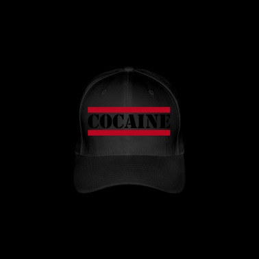 cocaine lettering with red lines - Flexfit Baseball Cap