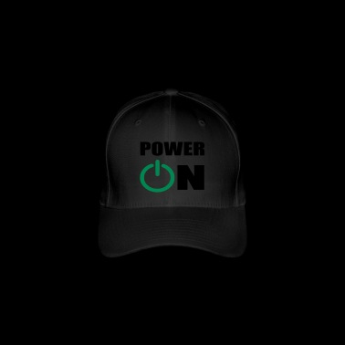 power on - Flexfit Baseball Cap