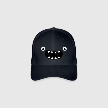 Funny Monster Face - Flexfit Baseballkappe