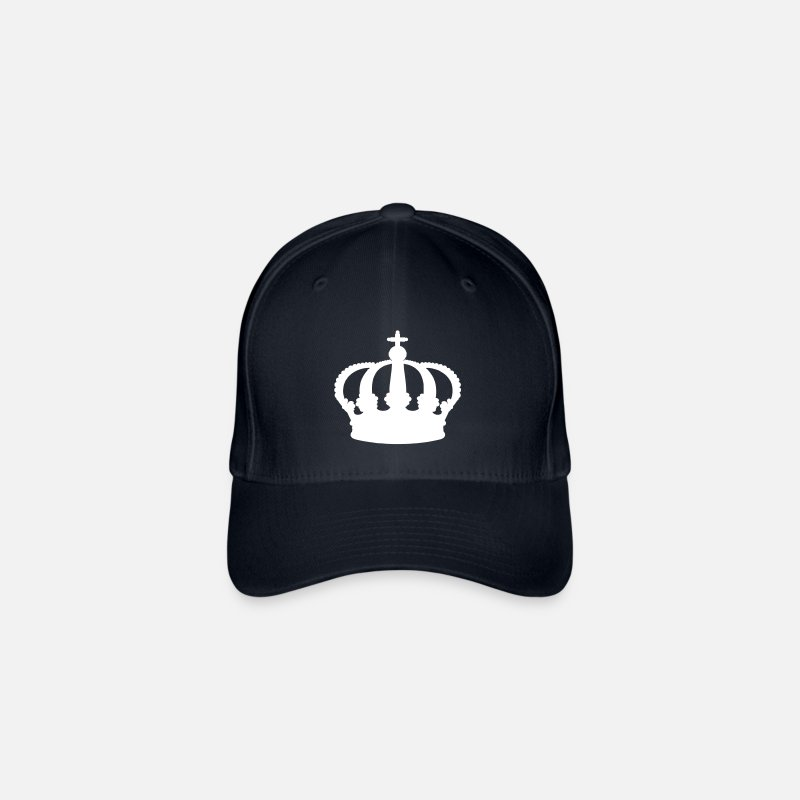 Queen Caps & Hats - crown - queen - king - Flexfit Baseball Cap navy