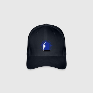 rotating blue beacon light - Flexfit Baseball Cap