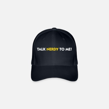Naughty Talk Nerdy To Me! - Flexfit Baseball Cap