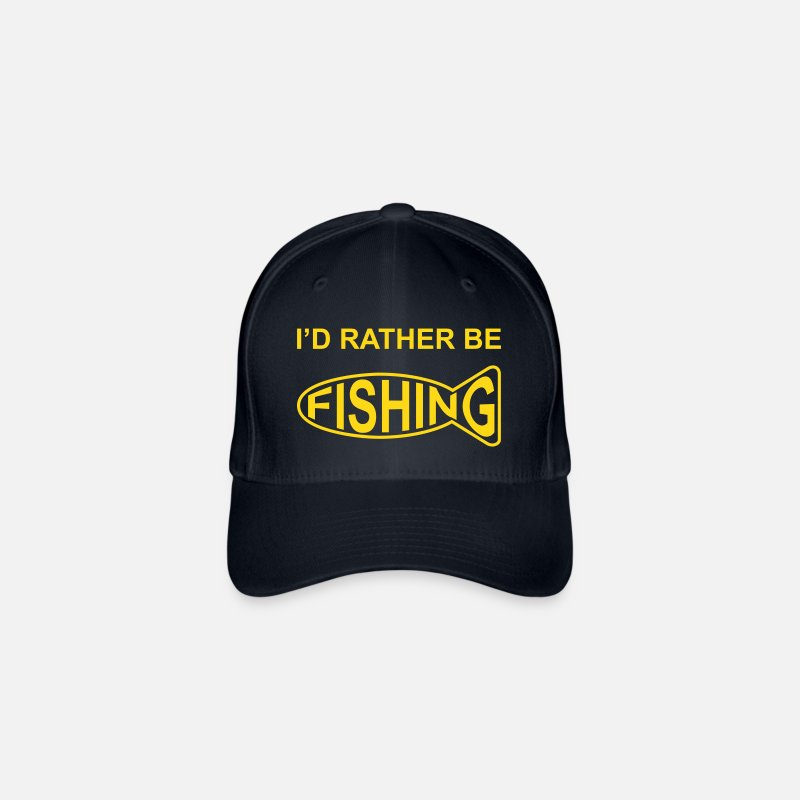 I/'D RATHER BE FISHING BASEBALL CAP