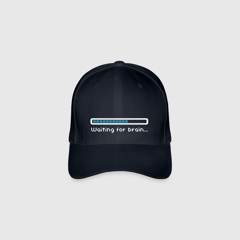 Waiting for brain (loading bar) / Funny humor - Gorra de béisbol Flexfit