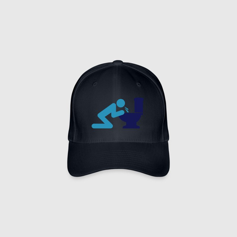 Man puking in the toilet - Flexfit Baseball Cap