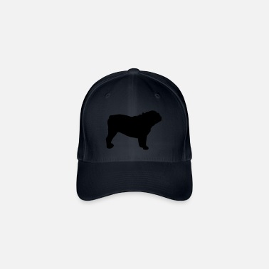 f712616a19a ENGLISH BULLDOG - ENGLISH BULLDOG Silhouette - Flexfit Baseball Cap