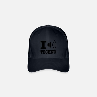 I Love Techno I love techno / I speaker techno - Flexfit Baseball Cap