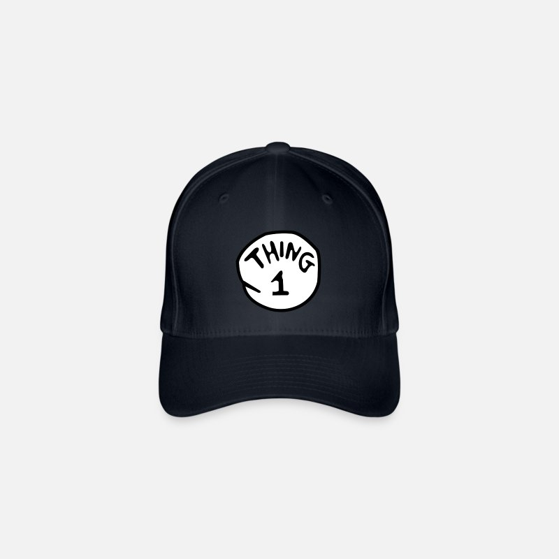 Thing Caps & Hats - thing 1 - Flexfit Baseball Cap navy