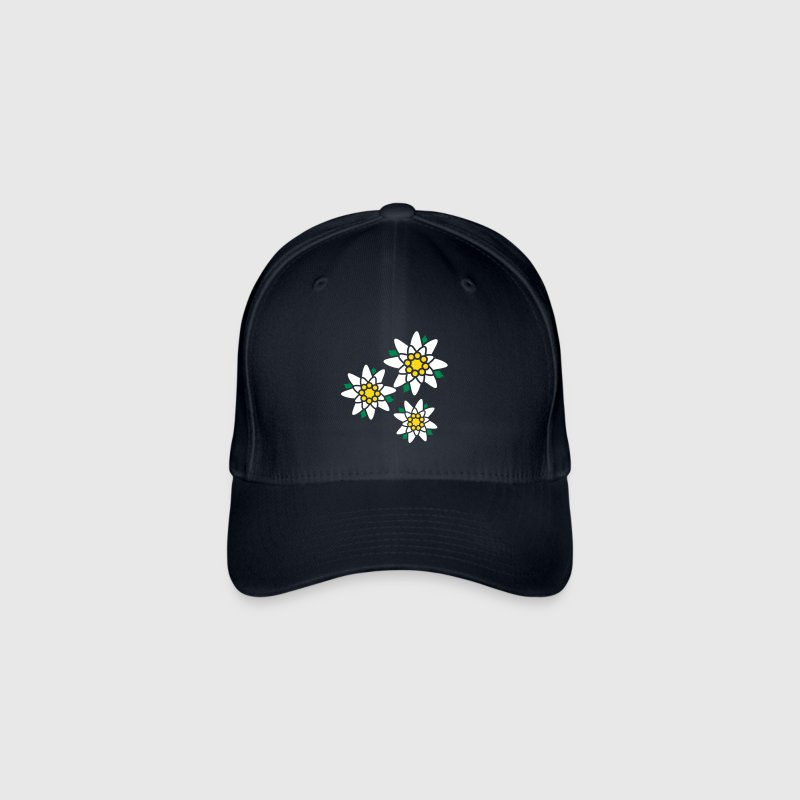 Three Edelweiss flowers - Flexfit basebollkeps