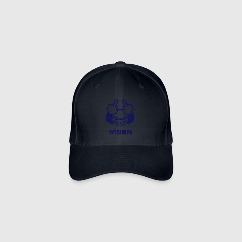 WYSIWYG Give The Finger Emoticon (Fuck Off You) - Flexfit Baseball Cap