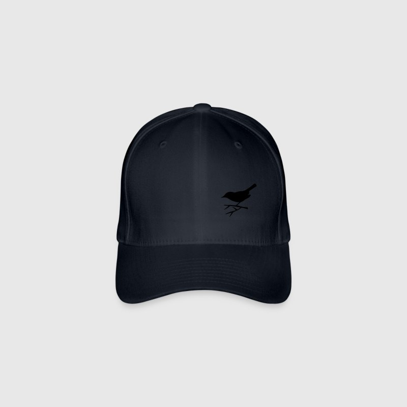 bird sitting on the branch - Flexfit Baseball Cap