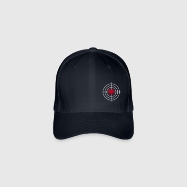 Heart is Target - Flexfit baseballcap