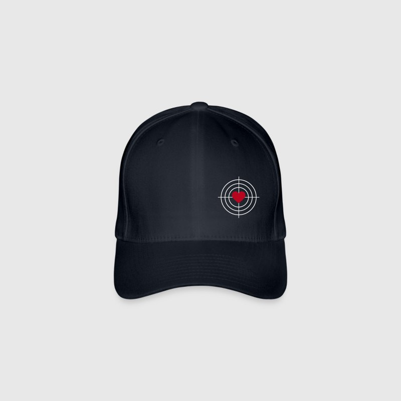 Heart is Target - Gorra de béisbol Flexfit