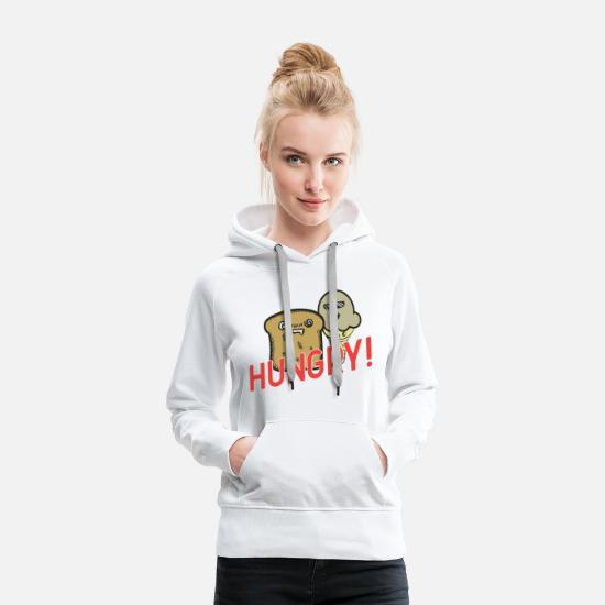 Birthday Hoodies & Sweatshirts - Hungry! - Women's Premium Hoodie white