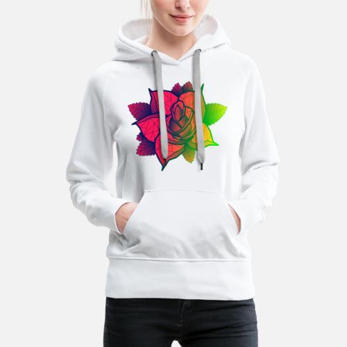 0e18484f908 tricolor roze Vrouwen premium hoodie   Spreadshirt