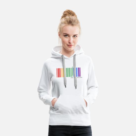 Pride Hoodies & Sweatshirts - one in a billion - Women's Premium Hoodie white