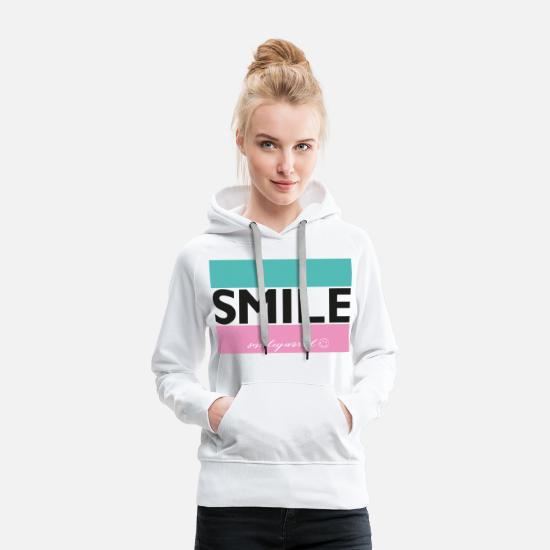 Beam Hoodies & Sweatshirts - SmileyWorld Smile. - Women's Premium Hoodie white