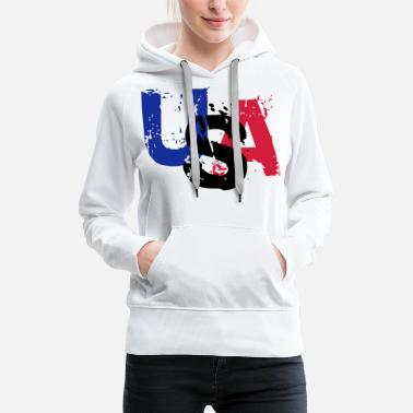 United States USA - Sweat à capuche premium Femme