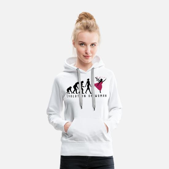 Flügel Pullover & Hoodies - Evolution of woman Elf-02 - Frauen Premium Hoodie Weiß