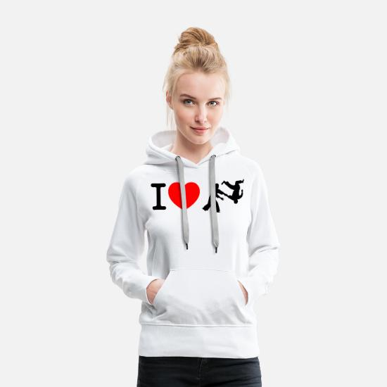 Heart Hoodies & Sweatshirts - I love aikido - Women's Premium Hoodie white