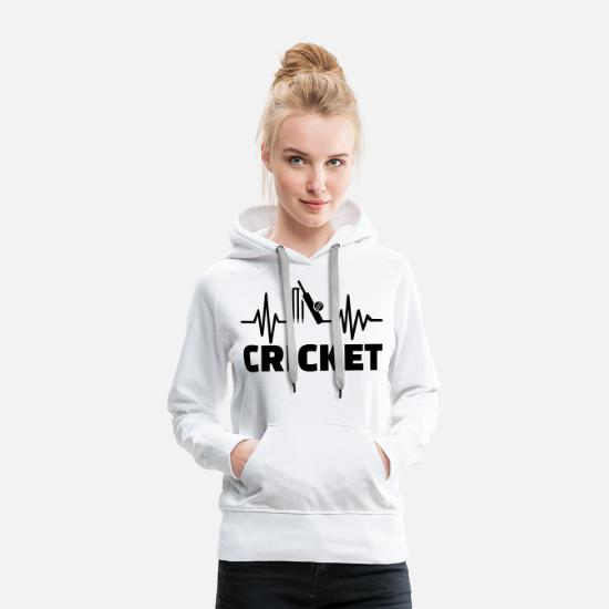 Game Hoodies & Sweatshirts - Cricket - Women's Premium Hoodie white