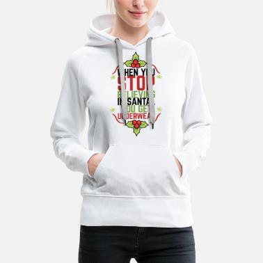 Female Underwear BELIEVE IN THE CHRISTMAS UNDERWEAR HOHOHO - Women's Premium Hoodie